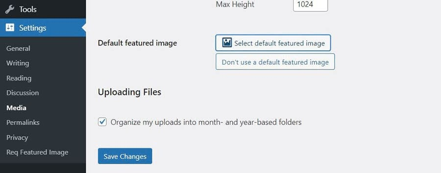 Using the Default Featured Image plugin.