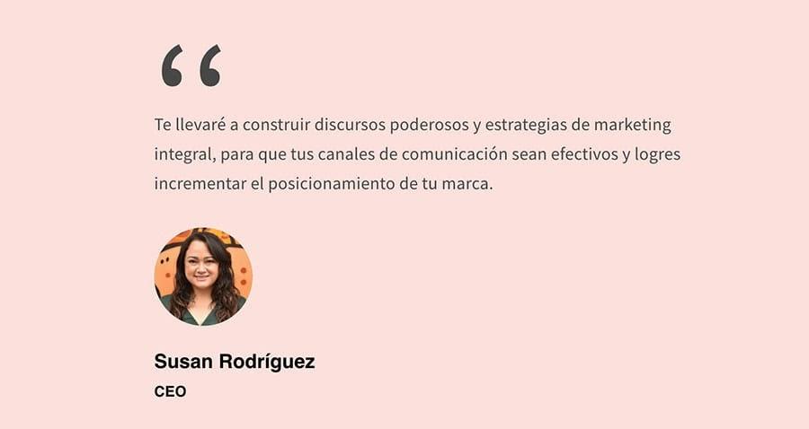 Susan Rodriguez on the Inspiramark homepage