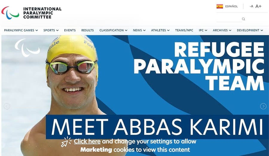 The IPC home page.