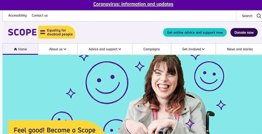 The Scope home page.