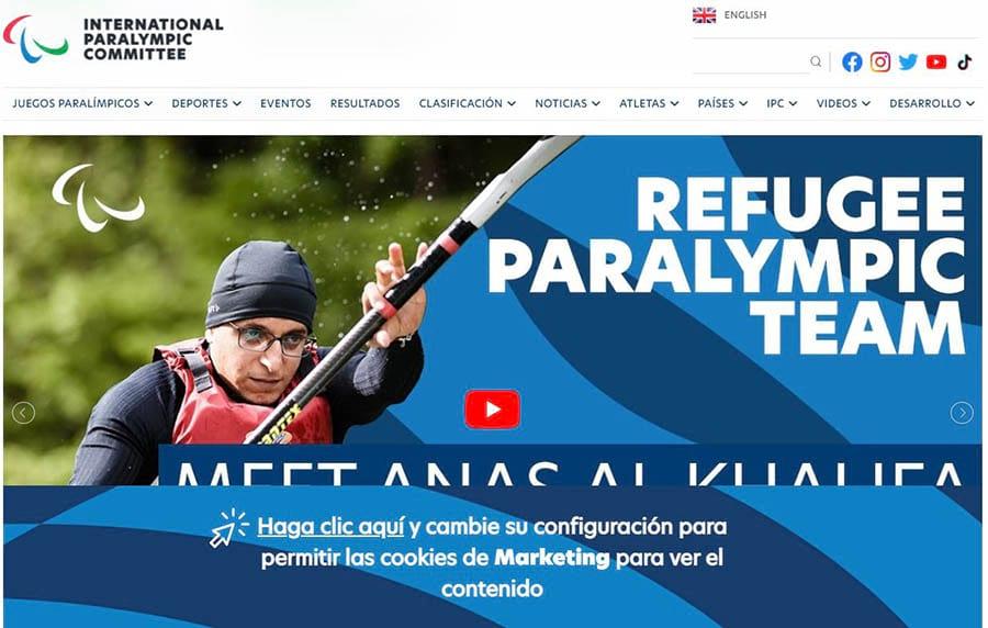 La página inicial de IPC.