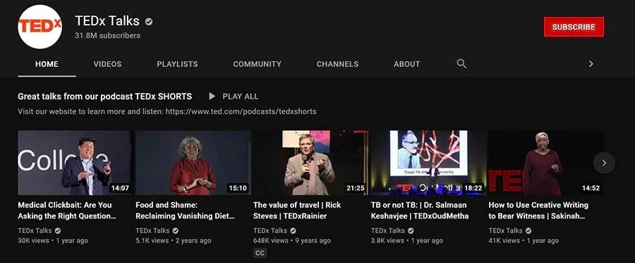 TEDx Talks YouTube channel.