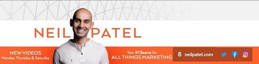 Neil Patel YouTube channel.