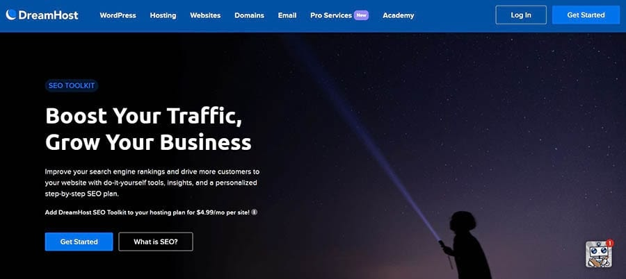 DreamHost's SEO Toolkit Landing Page