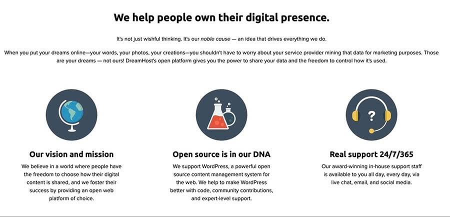 An example of an About Us page.