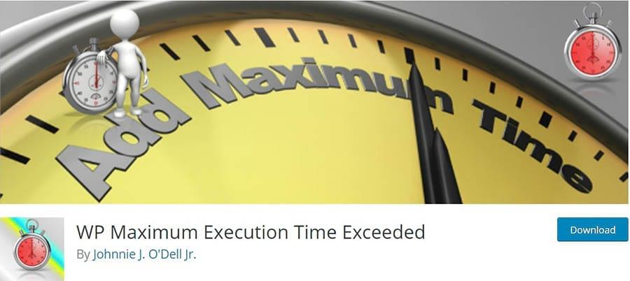 La página inicial del plugin WP Maximum Execution Time Exceeded.